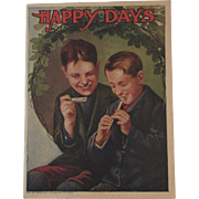 Victorian Children's Book Happy Days Advertising for Trimmer's 5, 10 & 25 cent Stores