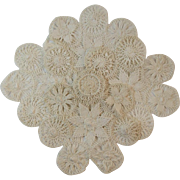 4 Matching Tatted Doilies Hand Made Doily Doilie