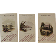 3 Reward of Merit Cards from John Wanamaker & Co Unused