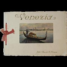 Venezia Color Prints Souvenir Book Venice Italy Ricordo di Venezia - Red Tag Sale Item
