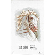 Litho Horse Victorian Trade Card from Bonnie Sunshine Stoves Amlico American Lithograph Company