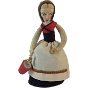 Hand Made Ethnic Milkmaid Doll Crochet Skirt and Spun Cotton Milk Maid