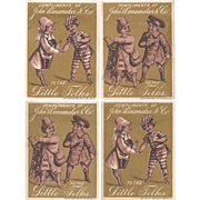 4 Gold Trade Cards John Wanamaker & Co To the Little Folks Victorian Charm