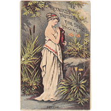 Psyche Victorian Trade Card for Reynolds Brothers Fine Shoes Utica, NY