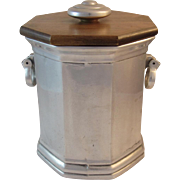 Wilton Pewter Mulberry Hill Ice Bucket with Wood Lid Columbia, PA Tableware