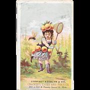 Godfrey Keebler & Co Beekeeper Victorian Ad Trade Card