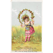 Godfrey Keebler & Co Flower Girl Victorian Advertising Trade Card