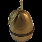 Evans Figural Brass Pear Table Lighter