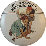 Norman Rockwell Marbles Champion English Tin