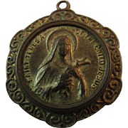 St Theresa of the Child Jesus Religious Catholic Saint Brass Medal Pendant