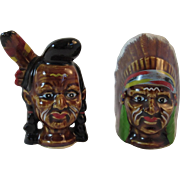 Indian Chief Salt and Pepper Shakers