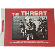 1976 Cold War Era The Threat US Army Military Training Book Booklet Manual