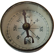 1880s Brass Compass Dr. Scott's Electric Brush Advertising Miniature for Use with Quack Devices
