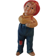 Viscoloid Jackie Coogan Figurine Rattle Character Toy from the 1921 Movie The Kid Figural Celluloid