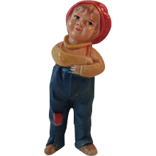 Viscoloid Jackie Coogan Figurine Rattle Character Toy from the 1921 Movie The Kid Figural Celluloid - Red Tag Sale Item