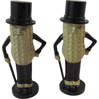 1950s Mr. Peanut Planters Salt Shakers by Pyro