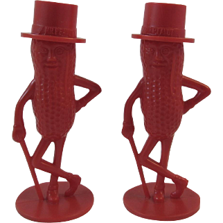 Red Planters Mr. Peanut Salt and Pepper Shakers