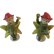 2 Bisque Flower Pixies Fairies