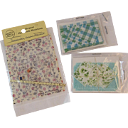 Dollhouse Miniatures Tablecloths, Napkins and Sewing Patterns Never Used in Original Packages Hand Made