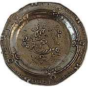1971 Pewter Miniature Tray or Platter for Dollhouse