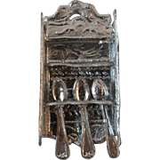 Dollhouse Miniature Metal Spoon Rack