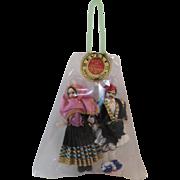 Evelt Greece Costume Dolls in Original Package Never Opened Greek Sarakatsanissa