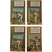 1881 Cricket Player Victorian Trade Card Series by OJ Ramsdell