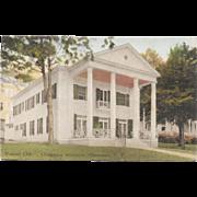 1933 Chautauqua Institution Woman's Club Hand Colored Postcard