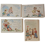 89 Unused Happy Birthday Postcards Post Cards Ages 1-4 Never Used New Old Stock NOS Children Cat and Puppy Dog Numbers Psalms Ephesians Peter - Red Tag Sale Item