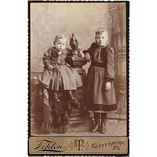 Tipton Gettysburg, PA Photograph of Baby and Young Girl