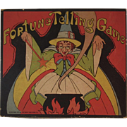 1934 Whitman Fortune Telling Game Art Deco Box Cover Witch and Cauldron 2096 Made in USA