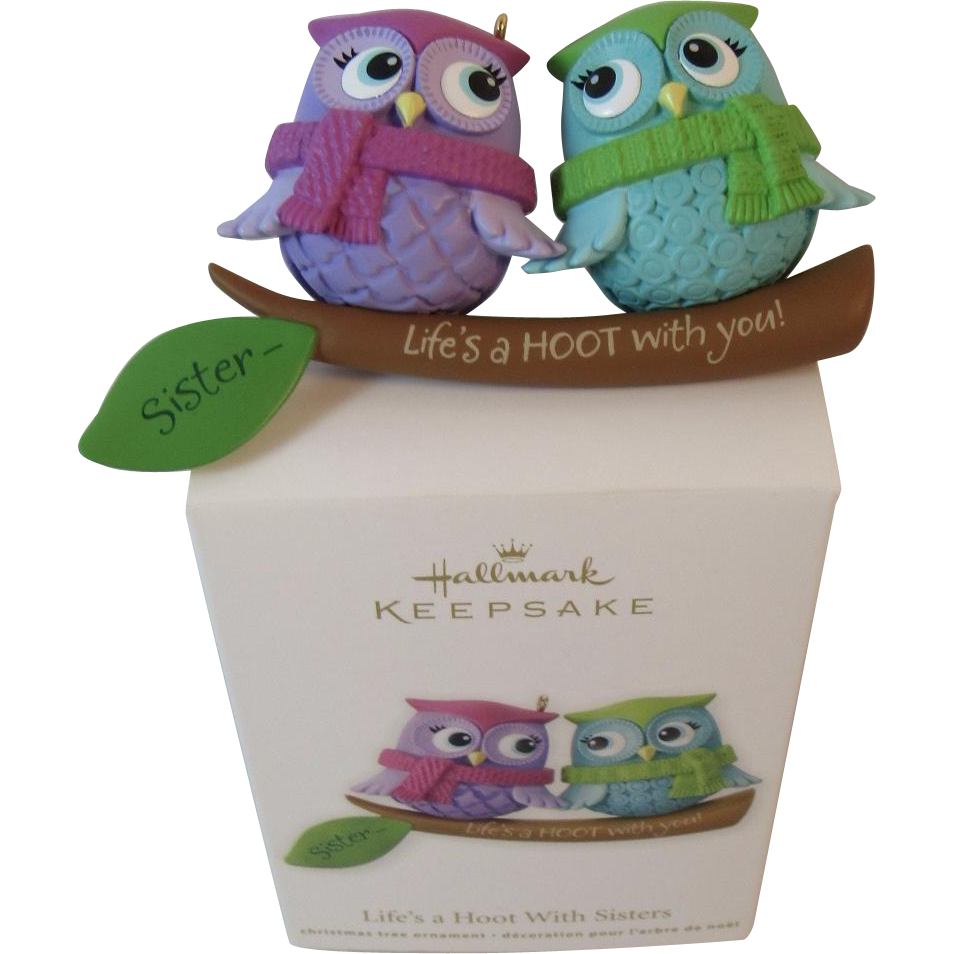 Hallmark Keepsake Owls Ornament Life 39 S A Hoot With Sisters Handcrafted From Ssmooreantiques On
