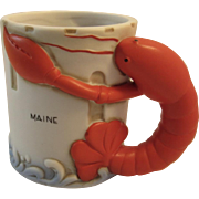 Vintage Maine Lobster Bisque Mug Nautical Seaside