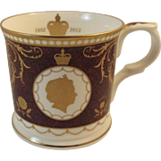 Mulberry Hall Diamond Jubilee Bone China Mug Queen Elizabeth II England