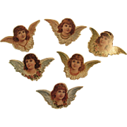 12 Angel Christmas Ornaments by B. Shackman Die Cut Die-Cut
