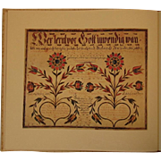 The Pennsylvania German Fraktur of the Free Library of Philadelphia 2 Vol Book Set by Frederick Weiser and Howell Heaney 1976 Bicentennial