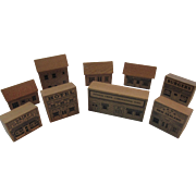 Wood Block Houses Set Possum Creek Toys New Zealand