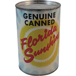 Genuine Canned Florida Sunshine Postcard Can Souvenir for Mailing