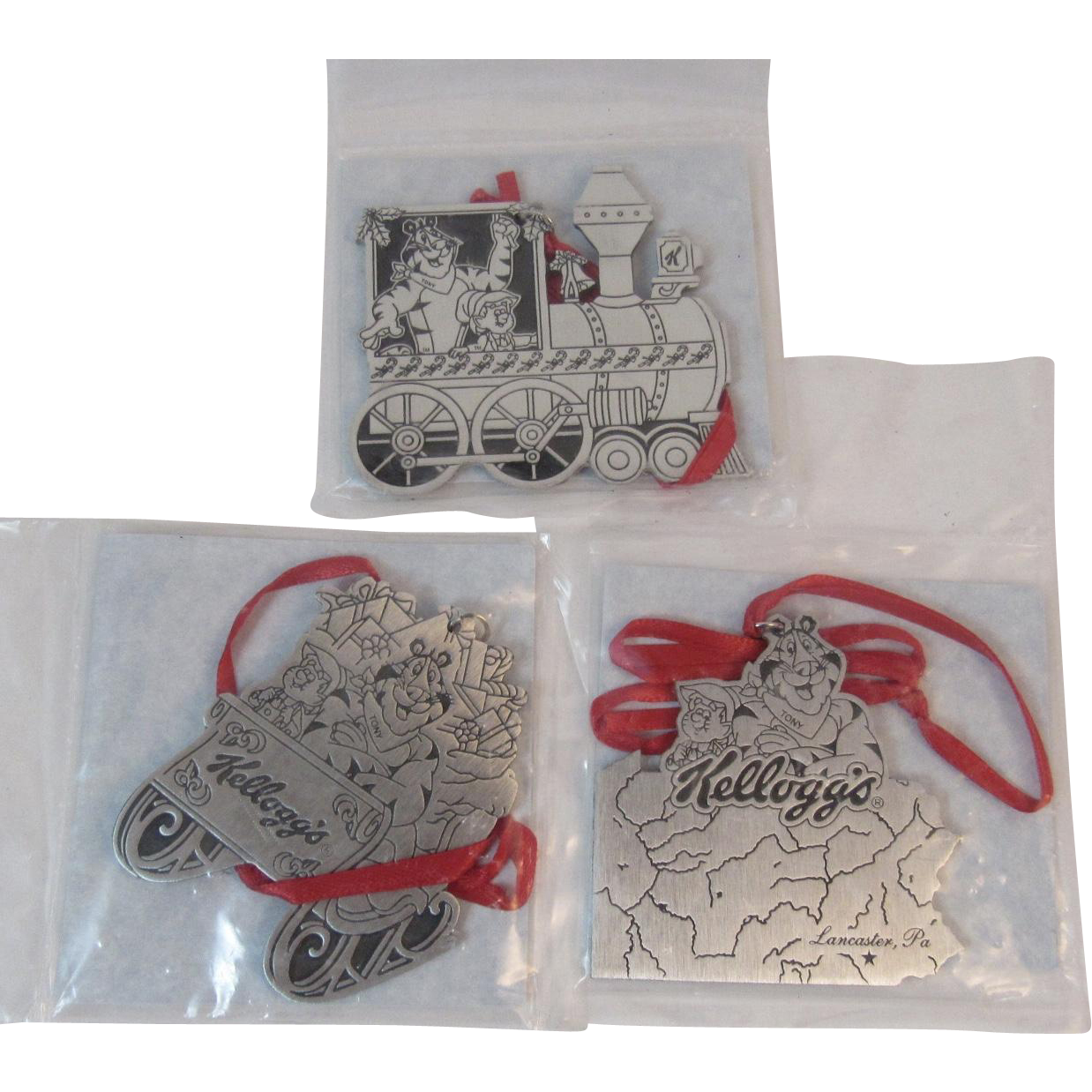 Tony the tiger pewter christmas ornaments from kellogg s