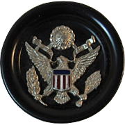 WWII Sweetheart Button with Eagle and Shield World War II