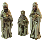 Vintage Nativity 3 Wise Men Three Kings Figurines Japan Christmas Papier Mache