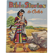 1954 Whitman Bible Stories to Color Coloring Book Never Used