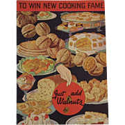 1930s Just Add Diamond Walnuts To Win New Cooking Fame Cookbook Recipe Booklet