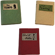 3 Dollhouse Miniature Books