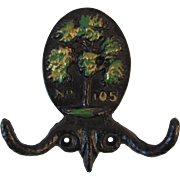 Pennsylvania Dutch Cast Iron Coat Hook By Jacob and Jane Zook Lancaster County, Pennsylvania