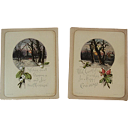 2 Wirths Brothers Christmas Cards with Winter Scenes