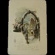 W. Hagelberg Victorian Christmas Card with Winter Castle Scene
