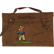 Leather Cowboy School Days Satchel for Child from Atlantic City, New Jersey