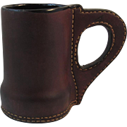 Vintage Leather Mug Tankard Beer Meade Ale Stein