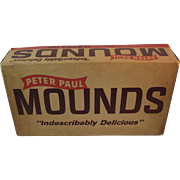 Peter Paul Mounds 10 Cent Double Candy Bar Counter Display Box 1950s Advertising